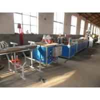 PVC Polystyrene Profile Extrusion Line , Conical Twin-Screw Extruder