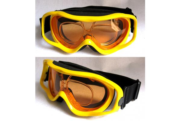 ski goggles orange  precise custom ski
