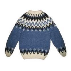 China Blue Lovely 100% Cotton Warm Knitting Patterns Kids Sweaters