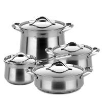 410 # Stainless Steel Cooking Pot 0.4mm Thickness High Heat Efficiency