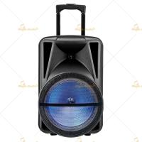 Big 100 Watt Portable Pa Speaker System 15 Inch with Bluetooth