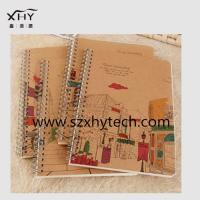 A4 hardcover paper spiral notebook