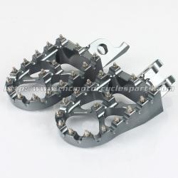 China 57mm Dirt Bike Passenger Foot Pegs Sharp Teeth Hardened Steel on sale