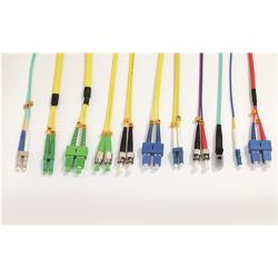 China LSZH Single Mode Fiber Optic Patch Cord SC FC LC ST Type With Custom Length on sale