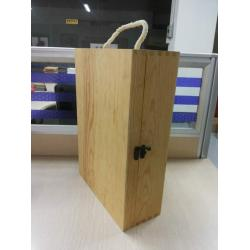 China Custom Plain Wooden Wine Gift Box Large With Lid 350 X 250 X 100 mm on sale
