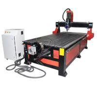 4*8 Feet 4 Axis Wood CNC Router with Underneath Rotary Axis/Mach3 Control