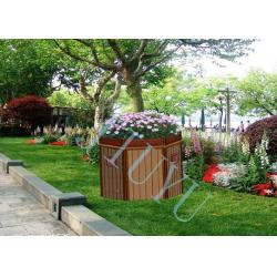 China Outdoor WPC Wood Plastic Composites Flower Railing / Fencing Box , Weather Resistant on sale