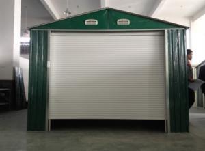Standard green movable medium metal car shelter apex for 20x10 garage door