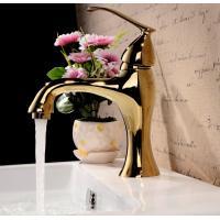 Modern single lever polished brass bathroom faucet bath taps