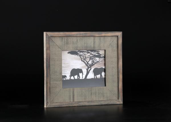 China Wooden Uneven Matted Antique Dark Coffee Wood picture frames for wall hanging supplier