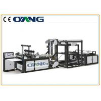 Auto Handle Adjust Non Woven Box Bag Making Machine / Production Speed 40 - 100pcs/Min