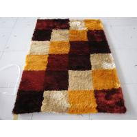 Boxes design Polyester Silk Colors Combination Popular Shaggy Rug