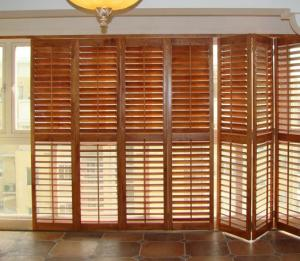 Stained Plantation Exterior Decorative Adjustable Louver