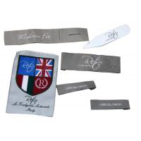 Customized Clothing Woven Labels,Iron On Personalized Garment Label