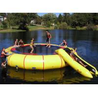 0.9mm PVC Tarpaulin Inflatable Water Trampoline Combo Used In Lake