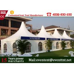 China Stylish prefabricated house pagoda wedding tent with white waterproof cover for sale on sale