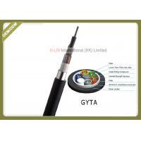 Outdoor Stranded Loose Tube Fiber Optic Cable GYTA Aluminum Polyethylene Laminate