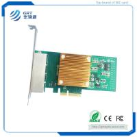 GRT Gigabit 4-Port RJ45 PCIe Fibre Ethernet NIC Network  Adapter Card with new power solution IEEE and DMAC