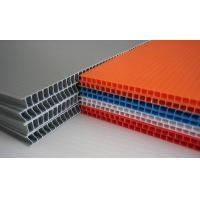 Grey / Orange / Green Flame Retardant PP Hollow Sheet For Floor Protection