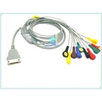 Copper Conductor ECG Patient Cable , TPU ECG Holter Cable 10/12 Lead With Snap
