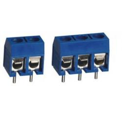 China 5.08 mm pitch 5 Pins ( 2 poles + 3 poles jointed) PCB Mounting Screw Terminal Blocks on sale