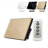 Smart Home Touch switch Crystal Glass Panel Us/Au Light Switch 2 Gang 1 Way Wall Smart Switch