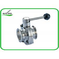 Full Port Butterfly Valve Sanitary , High Performance Butterfly Valves For Food Machines