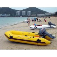 Crazy Yellow Inflatable Motor Boat for beach water sports