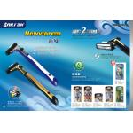 Rubber handle man using New Shaving Razor with changeable blade head
