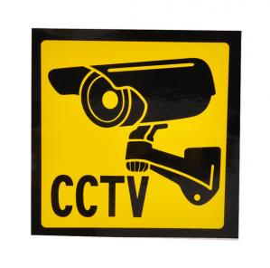 Self Adhesive PVC Sticker Printing Custom Security Stickers For CCTV Camera Warning