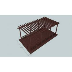 China Anti-UV Coffee WPC Construction Pergola For Sunshade & Decoration on sale