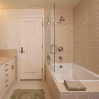 PVC MDF Interior Wood Composite Door Natural Wood Veneer Right / Left Opening Direction