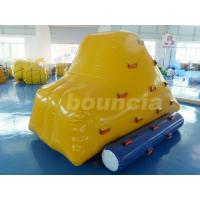 0.9mm PVC Tarpaulin Inflatable Iceberg With 2 Sides Climbing For Pool