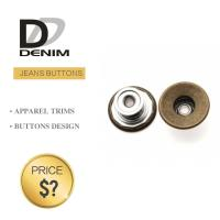 Classic Anti Brass Denim Metal Buttons , Denim Jeans Trousers Button