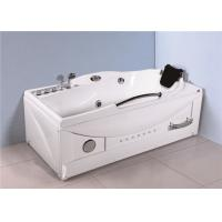 Large Whirlpool Tub With LED Light Shower Unit , Jet Spa Tub For Household