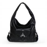Factory Price Genuine Leather Fashion Black Shoulder Bag Handbag #3003A