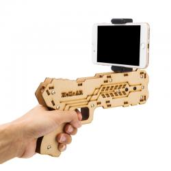 China IOS and Andriod Bluetooth Smart Devices Virtual Shooting Game Reality Experience Wood Toy AR Gun on sale