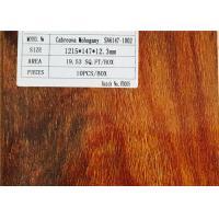 High Gloss V Groove Mahogany Natural Laminated Wooden Floor Anti-fading