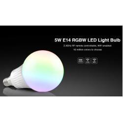 China Milight Wifi 5W E14 RGBW LED Light Blub 2.4G RF remote RGBW Four in one LED Aluminum Bulb light with E14 Socket. on sale