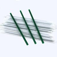 Plastic Drinking Straws 20.6 cm length paper packing for juice drink