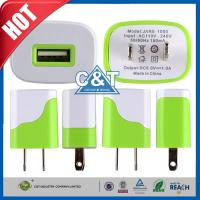 Iphone 6 Plus Universal USB Power Adapter , Us Plug Usb Wall Travel Charger