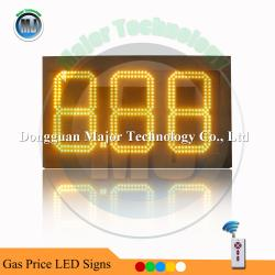 China Amber Color 8.88  Outdoor High Brightness Remote Control  Double Side LED Digit Price Sign Board on sale