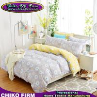 100% Cotton Grey and Yellow Little Flowers Home Textile Bedding Sets