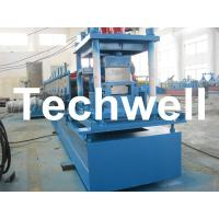 Steel C Purlin Roll Forming Machine With Hydraulic Punching and Cutting