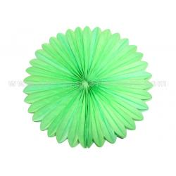 China Party or Event Green , Yellow Paper Fan Decorations , Hanging Paper Fan Decorations on sale