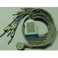 10 Lead 3.0 din type EKG Cable With Leadwires, Kanz PC-109/ecg 108 ekg cable