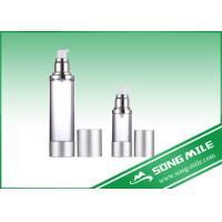 Airless Pump Bottle Silver Frosted Airless Sprayer Bottle 15ml 30ml