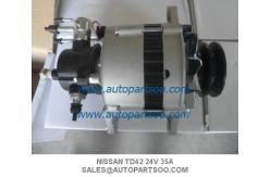 China Alternador NISSAN TD42 23100-11T18 NISSAN Patrol SAFARI ALTERNATOR,24V,35 AMP,TD42 supplier