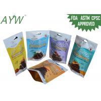 60g Notch Snack Plastic Packaging Bags , Food Flexible Packaging Pouches With Resealable Zipper