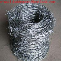 security barbed wire fencing / galvanized barbed wire/double twist barbed wire/ 2 strand 4 point barbed wire mesh